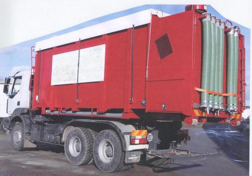transport par camion souffleur